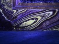 Duomo di Mondovì, Cappella del Crocifisso, paramento in alabastro di Busca, Luce Ultravioletta